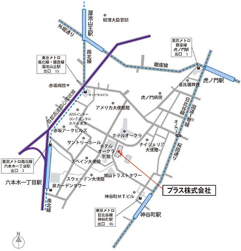 虎ノ門 本社オフィス マップ